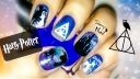 Harry Potter and the Deathly Hallows Nail Art