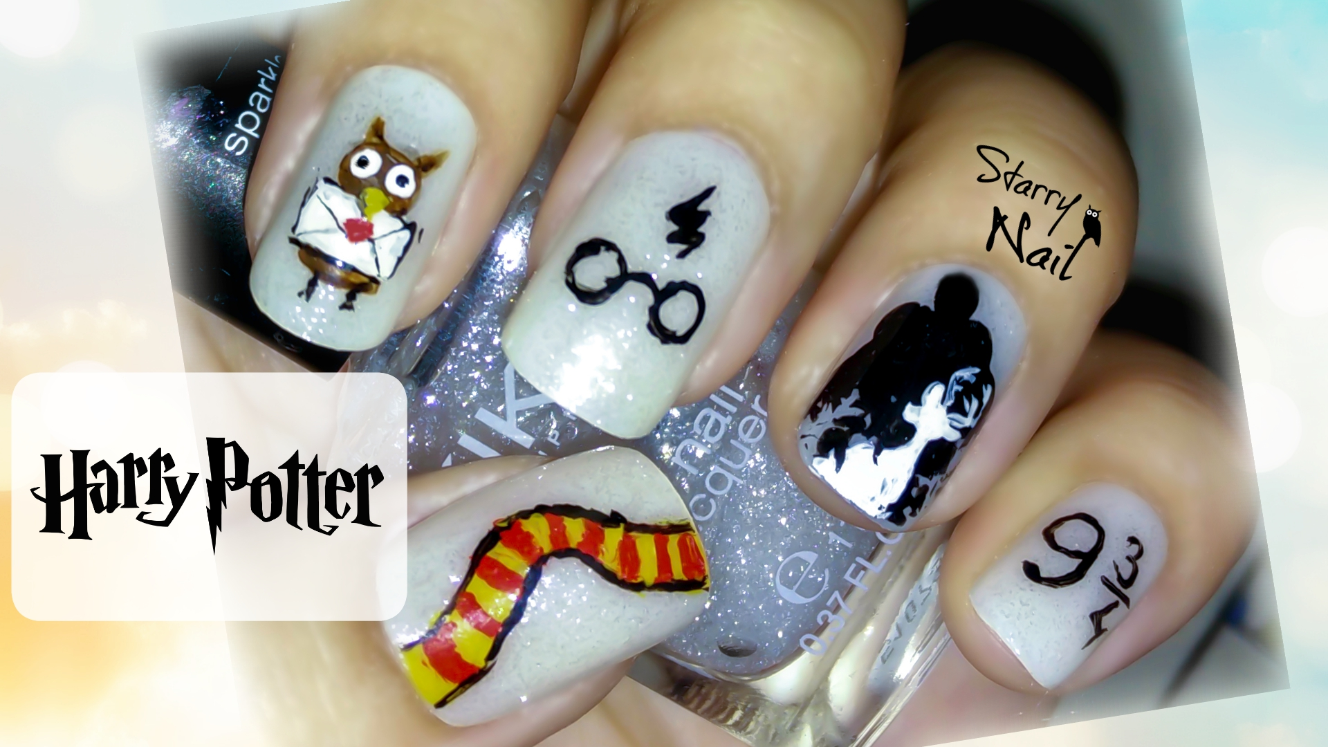 Harry potter cute nail art starrynail 31 july 2015 1920 1080 harry potter cute nail art prinsesfo Images