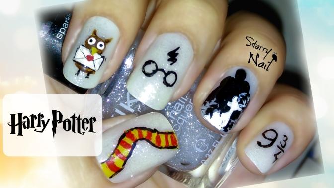 Harry Potter Cute Nail Art