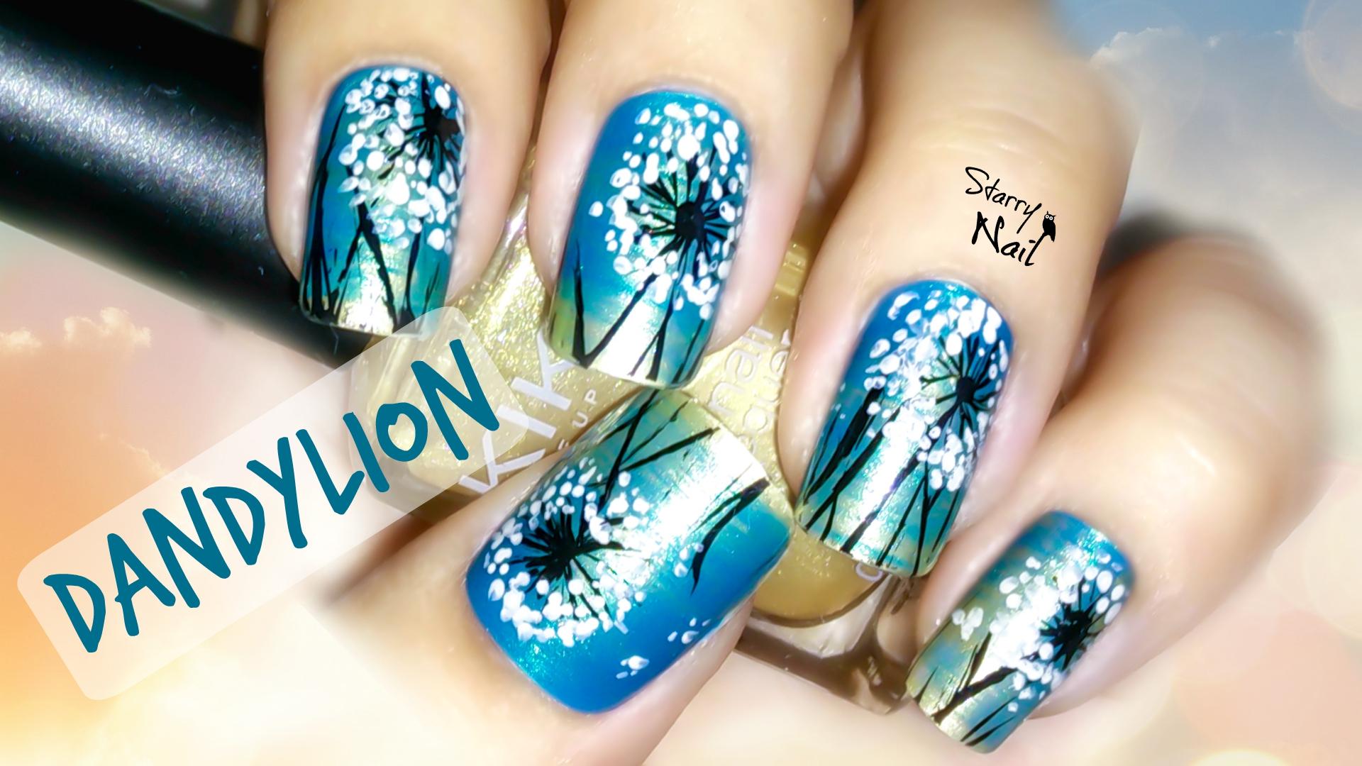 Dandylion Nail Art | StarryNail