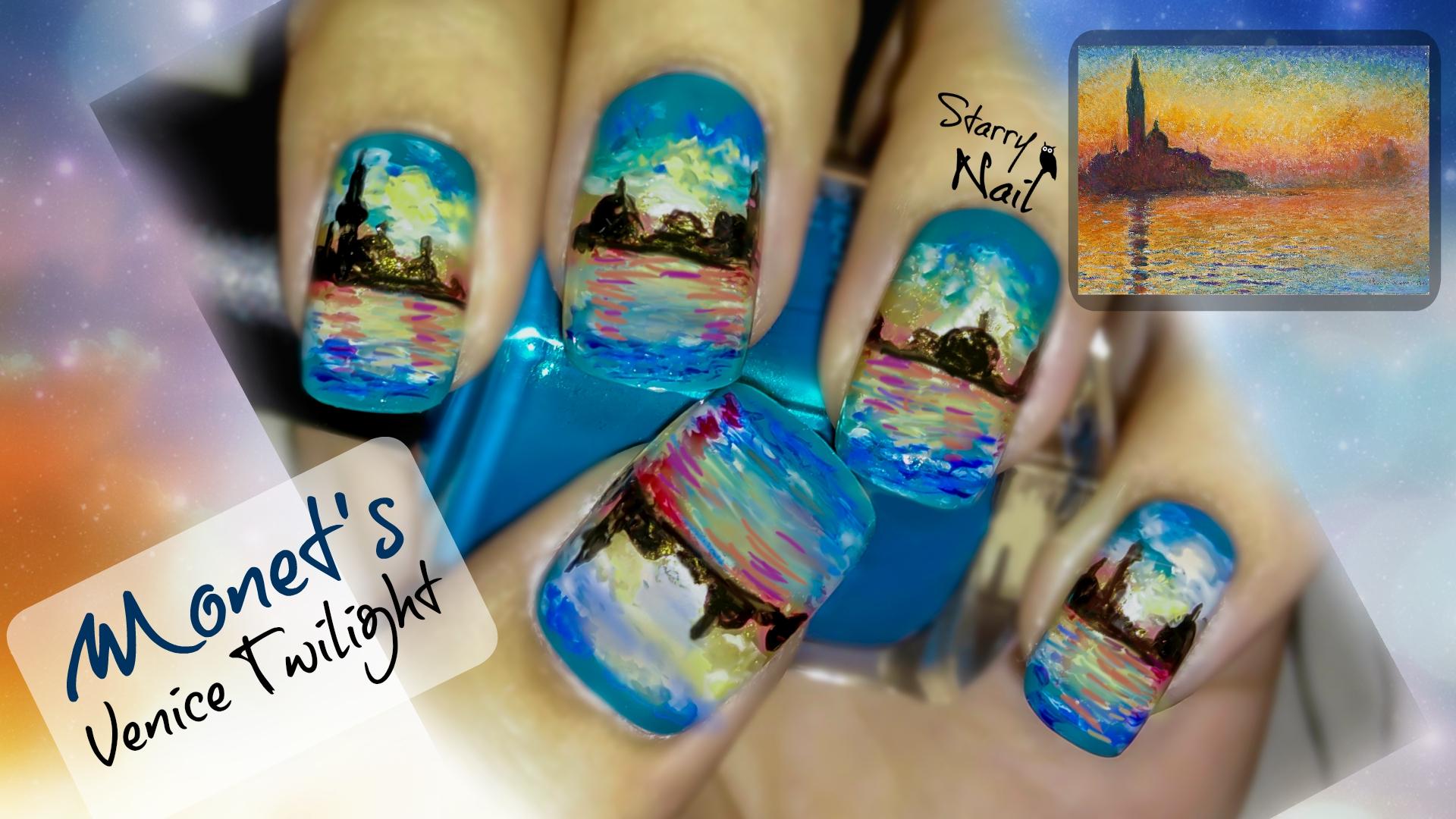 Monets venice twilight nail art starrynail venice twilight nail art prinsesfo Gallery