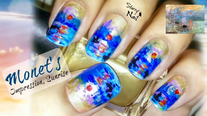Monet's Impression, Sunrise Nail Art