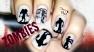 Zombie Silhouettes Scary Halloween Nail Art