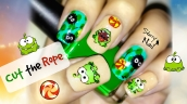 Cut the Rope Nail Art