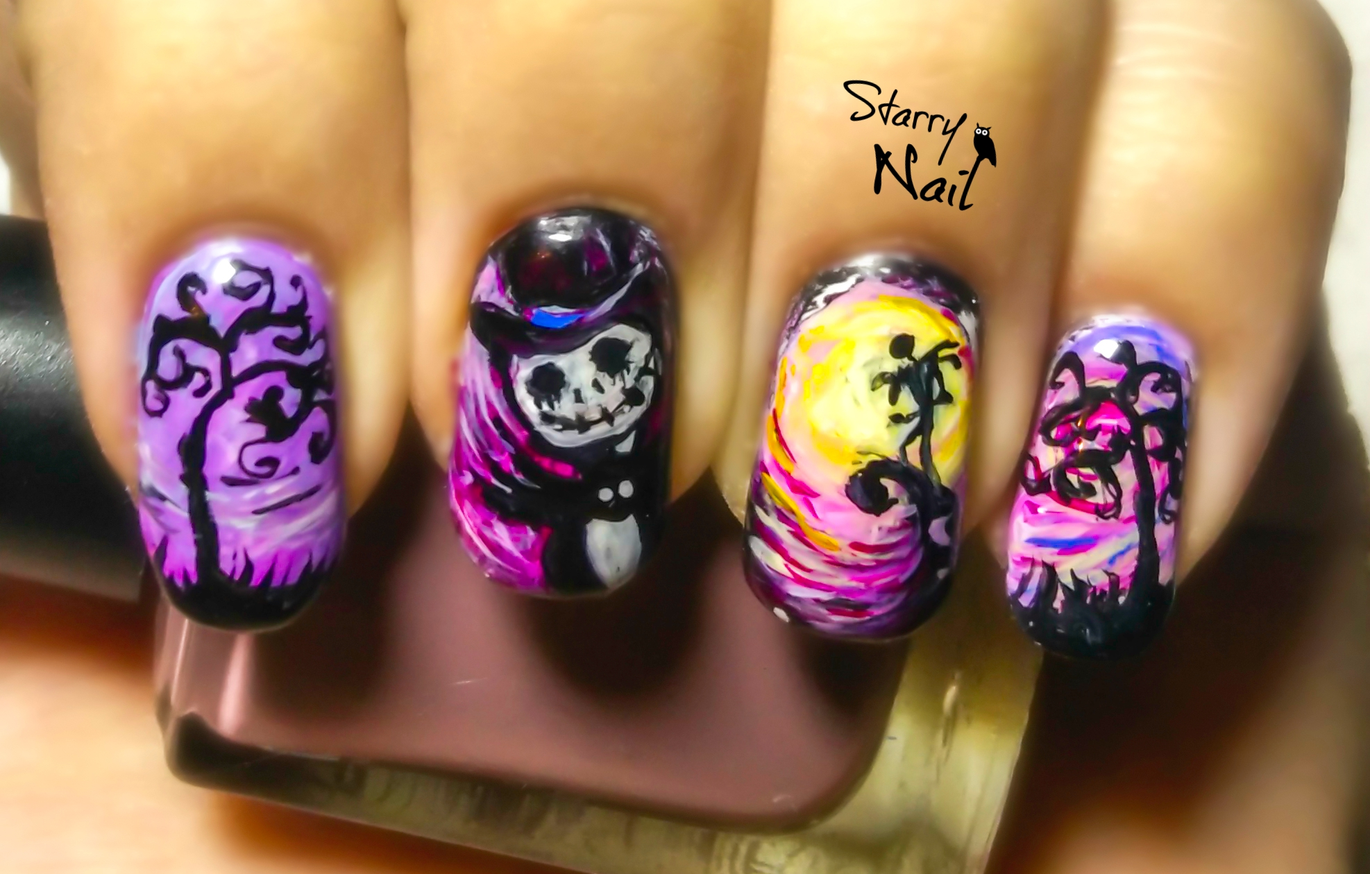 the nightmare before christmas nail art preview starrynail