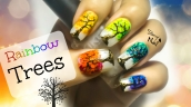 Rainbow Tree Nail Art