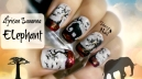 African Savanna Elephant Nail Art