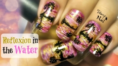 Reflexion in the Water Nail Art Tutorial