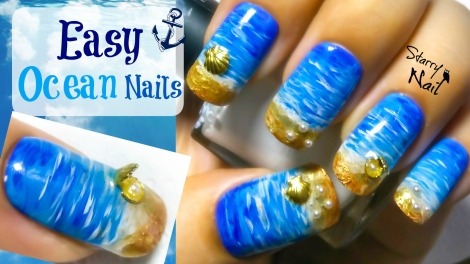 Easy Ocean Nail Art Tutorial