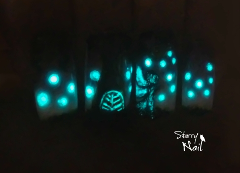 Fairy House ⎮ Glow in the Dark Freehand Nail Art Tutorial