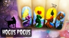 Hocus Pocus ⎮ Halloween Witches ⎮ Freehand Nail Art Tutorial