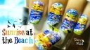 Sunrise at the Beach Nail Art Tutorial