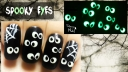 Easy Halloween Spooky Eyes ⎮Glow in the Dark Freehand Nail Art Tutorial