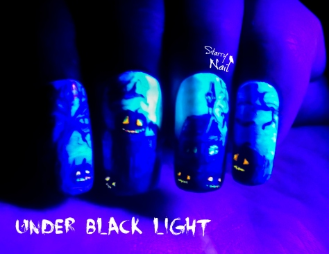 Halloween Scarecrow ⎮ Glow in the Dark Freehand Nail Art Tutorial