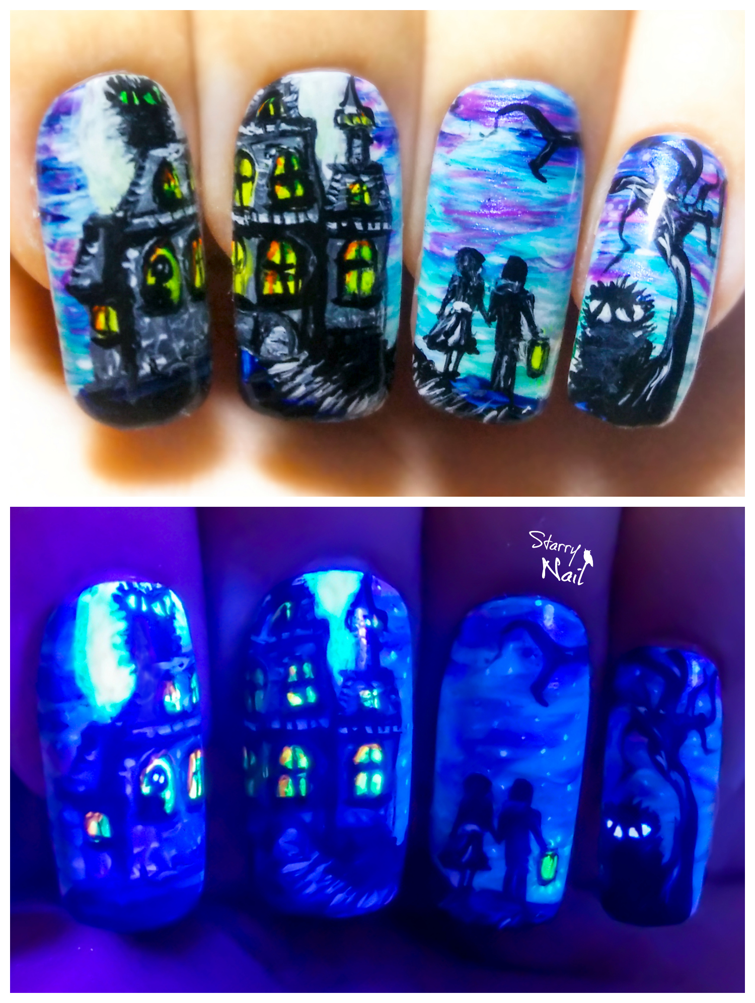 Are You Afraid Of The Dark? ⎮ Halloween Glow in the Dark Freehand ...