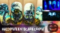 Halloween Scarecrow ⎮ Glow in the Dark Freehand Nail Art Tutorial