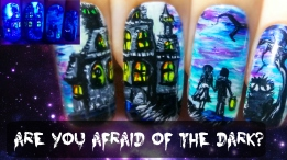 Are You Afraid Of The Dark? ⎮ Halloween Glow in the Dark Freehand Nail Art Tutorial