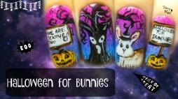 Halloween for Bunnies ⎮ Freehand Nail Art Tutorial