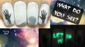 Invisible Creepy Message ⎮Glow in the Dark Halloween Freehand Nail Art Tutorial