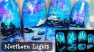 Northern Lights ⎮ Glow in the Dark Freehand Nail Art Tutorial