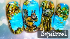 Cute Squirrel ⎮ Freehand Nail Art Tutorial