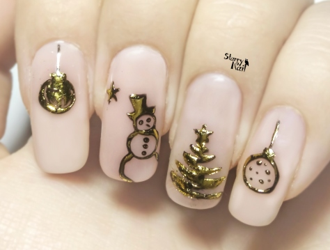 Easy 3D Christmas Ornaments ⎮ Transfer Gel & Foil ⎮ Nail Art Tutorial