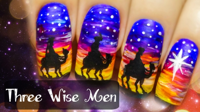 The Three Wise Men ⎮ Freehand Nail Art Tutorial