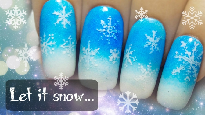 Easy Snowflakes ⎮Freehand Nail Art Tutorial