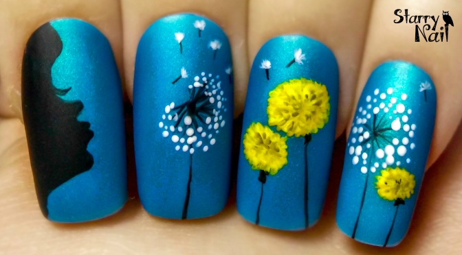 Make a wish dandelion freehand nail art tutorial starrynail make a wish dandelion freehand nail art tutorial prinsesfo Choice Image