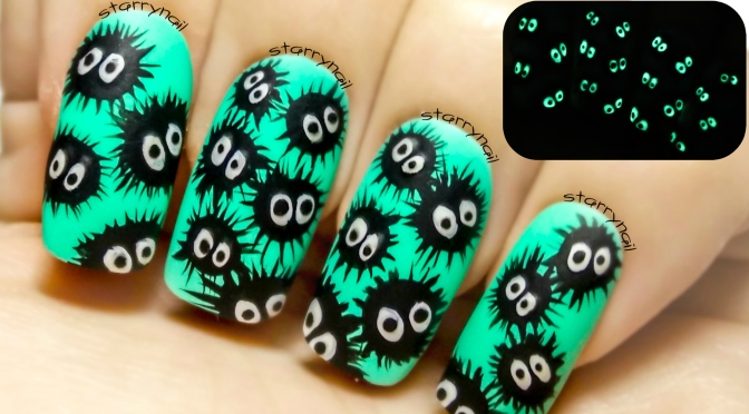 Susuwatari glow in the dark easy freehand nail art tutorial susuwatari glow in the dark easy freehand nail art tutorial prinsesfo Images