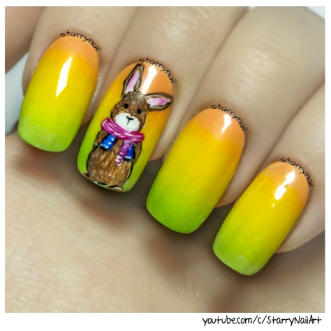 Cute Bunny for Easter⎮ Freehand Nail Art Tutorial