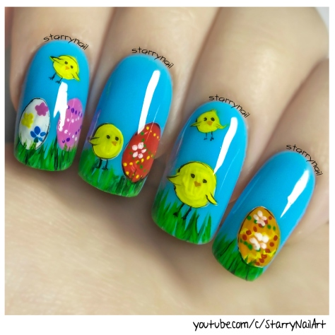 Easy and Cute Easter Nails ⎮ Freehand Nail Art Tutorial
