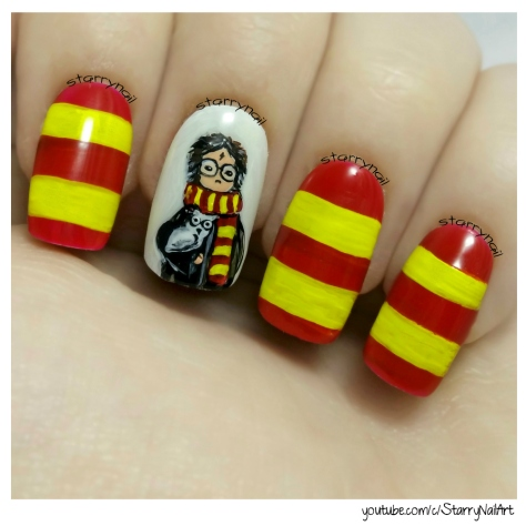 Harry Potter Freehand Nail Art Tutorial