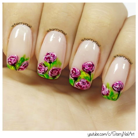 Roses [Freehand Nail Art]