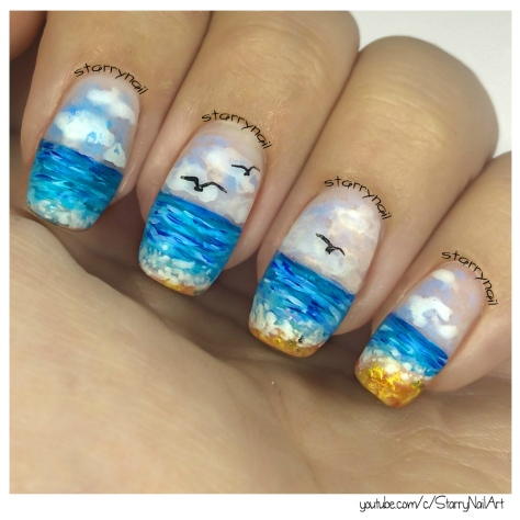 Ocean Nails [Freehand Nail Art]